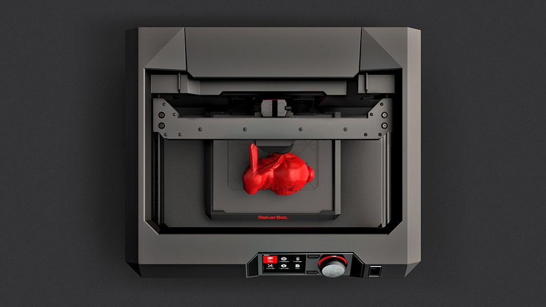 avis makerbot replicator imprimante 3d. Black Bedroom Furniture Sets. Home Design Ideas