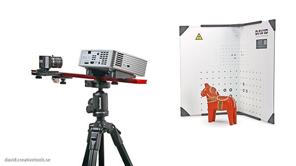 3D scanner David Structured Light Scanner SLS 2, in use