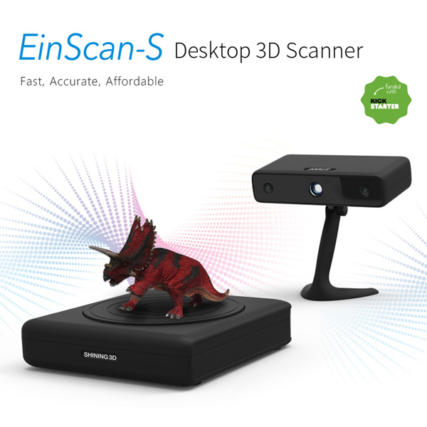 3D scanner Shining 3D EinScan S 3D scanner triceratops view