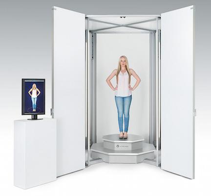 La cabine de scan 3D VITUSbodyscan, du fabricant Allemand Vitronic.