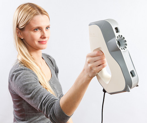 Le scanner 3D portable Artec Eva.