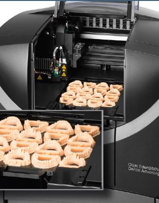 L'impression 3D pour la dentisterie. Les imprimantes 3D peuvent imprimer de nombreux modèles 3D en même temps ce qui est très intéressant.