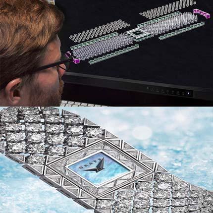 3D printed jewel by Graff Diamonds, Snowfall Collection
