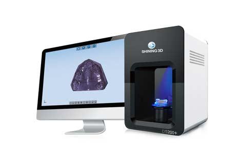 Scan 3D pour la dentisterie avec des scanners 3D de bureau pour numériser des empreintes dentaires traditionnelles.