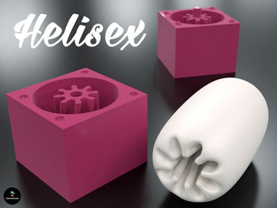 Le sextoy imprimable en 3D Helisex par Castomized.