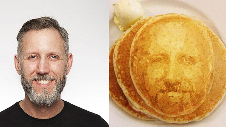 Un pancake imprimé en 3D par le société de design et d'innovation Kinneir Dufort.