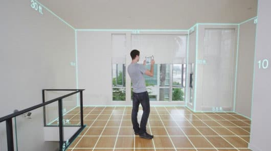 A 3D scan of a room with the structure sensor, a 3D scanner for ipad.