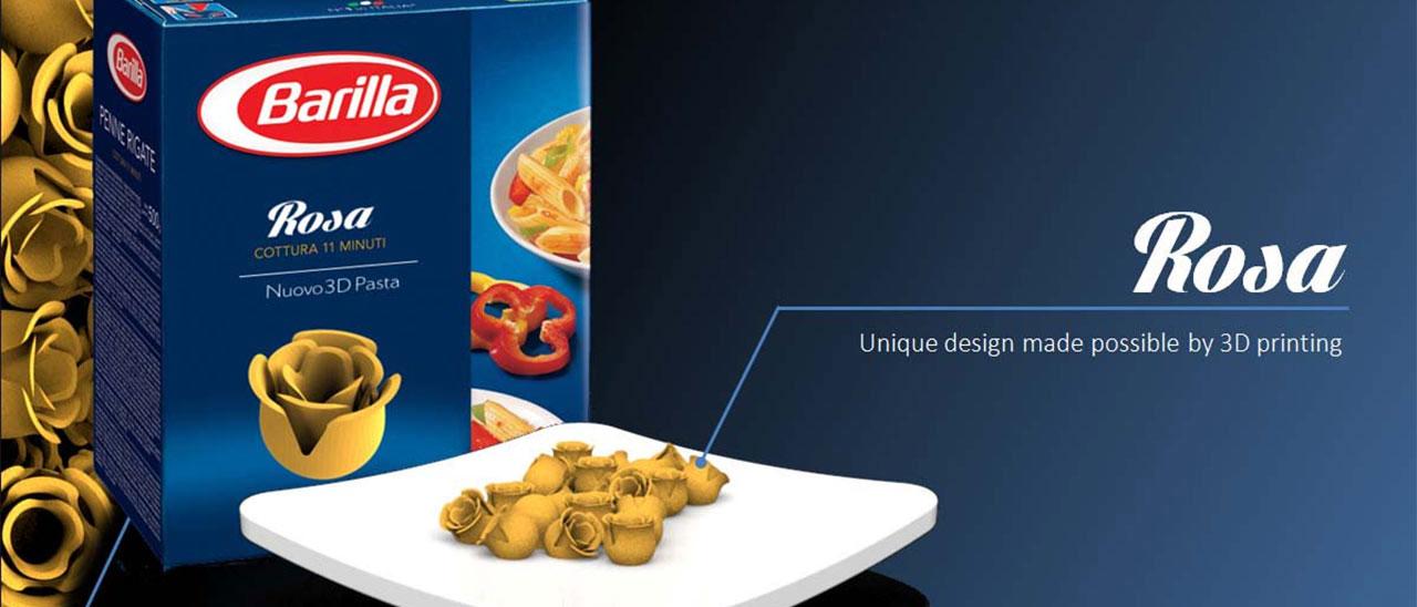 La gamme de pâte proposée par Loris Tupin, designer industriel français et gagnant du concours Barilla.
