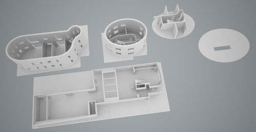 Une visualization de chaque couches d'un bâtiment permettant de mieux saisir le système de fabrication.
