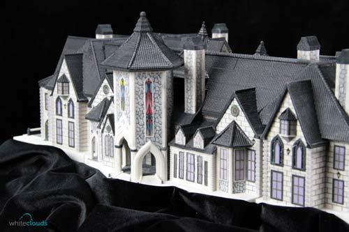 La maquette architecturale d'une maison imprimée en 3D.