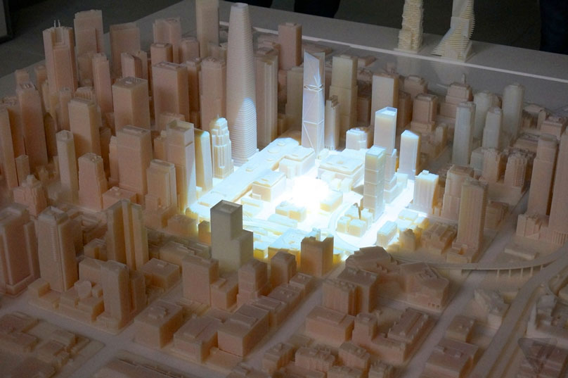 A 3D printed model of San Fransisco
