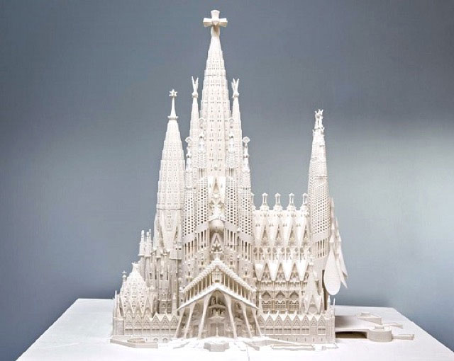 A 3D model of Sagrada Familia. Image Credit: Expiatory Temple of the Basílica de la Sagrada Família