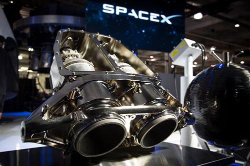 Le moteur SuperDraco imprimé en 3D par Space X pour équiper le vaisseau Dragon V2.