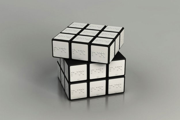 A Braille cube designed by Konstantin Datz.
