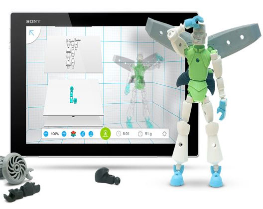 A 3D modelisation of a toy with the Tinkerplay 3D software, by Autodesk.