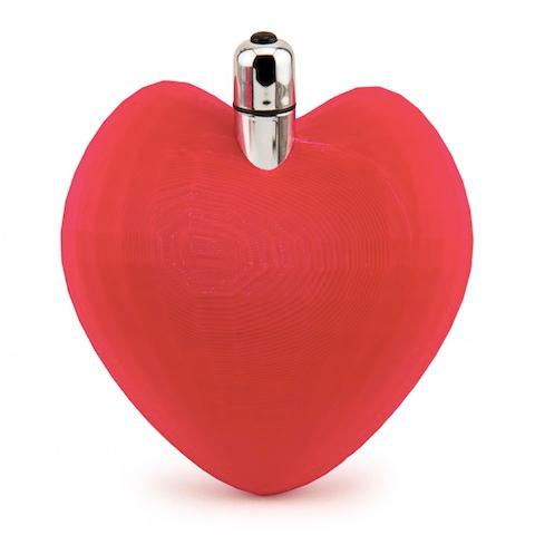 Un sex toy imprimé en 3D en forme de coeur, via makerlove.com.