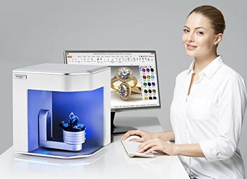 Le Scanner 3D Rexcan Silver par eLUXE3D, spécialement créé pour scanner en 3D la joaillerie.