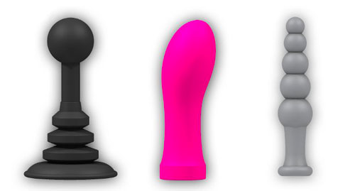 Some simple 3D printed sex toys.