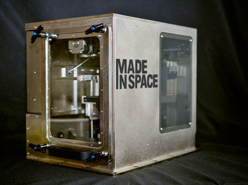 The Zero G 3D printer by Made in Space able to 3D print in space.