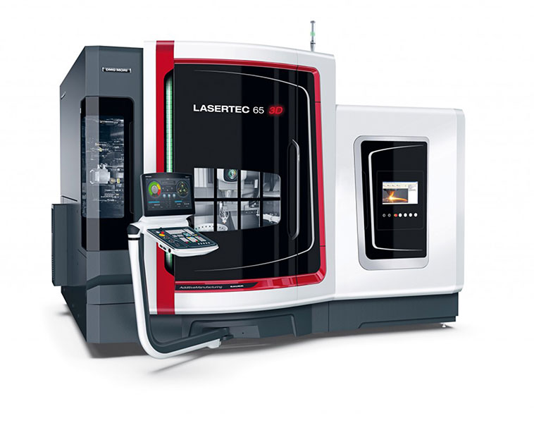 The DMG LaserTec 65 3D, an all-in-one additive manufacturing system including metal 3D printing.