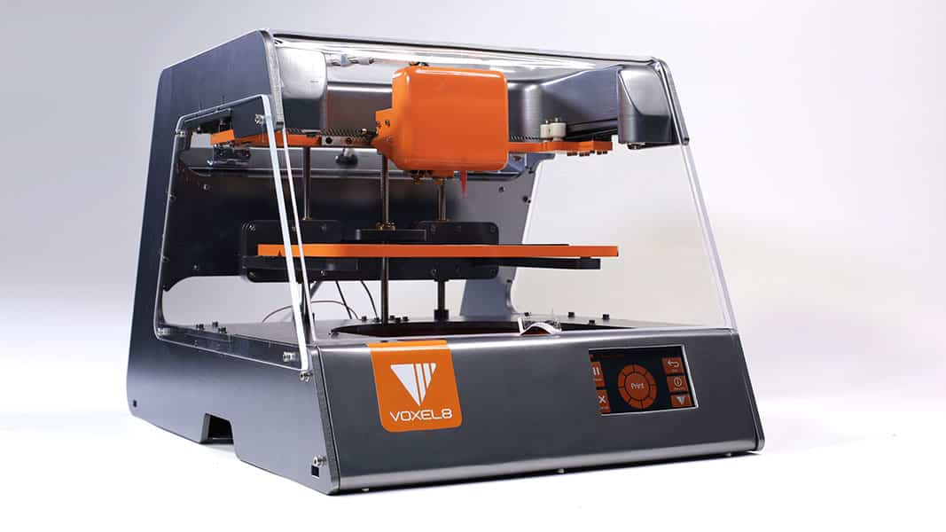 The Voxel8 3D printer, capable of 3D printing electronics circuits.