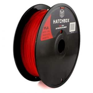 3D printing filament Hatchbox 1.75mm Red PLA 3D Printer Filament