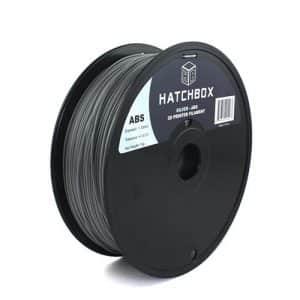3D printing filament Hatchbox 1.75mm Silver ABS 3D Printer Filament