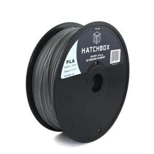 3D printing filament Hatchbox 1.75mm Silver PLA 3D Printer Filament