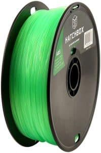 3D printing filament Hatchbox 1.75mm Transparent Green ABS 3D Printer Filament