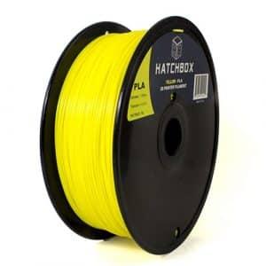 3D printing filament Hatchbox 1.75mm Yellow PLA 3D Printer Filament