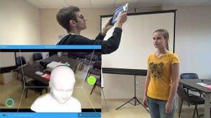 3D scanner Itseez3D Itseez3D, in use
