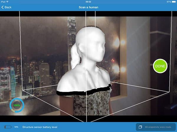 3D scanner Itseez3D Itseez3D result2