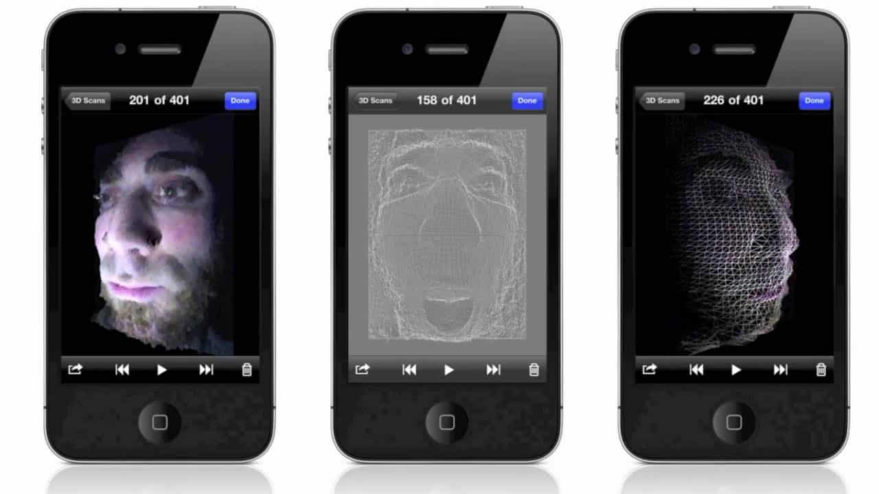 3D scanner Trimensional 3D Scanner for iphone triple view
