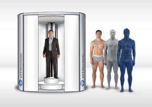 3D scanner VITRONIC body scanner 3D miniature across
