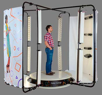 Body scanner 3D Artec Shapify, best 3D scanner