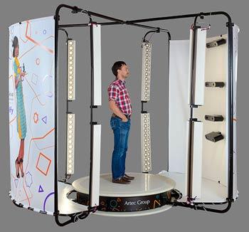 Une cabine de scanner 3D