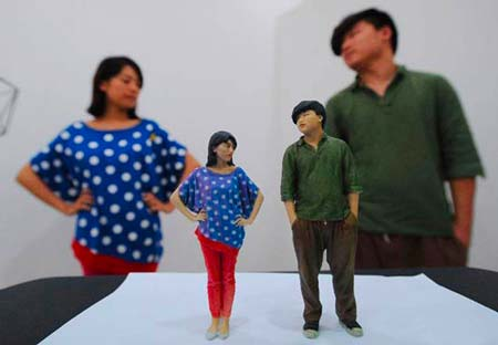 3D portrait of a 3D scanned couple.