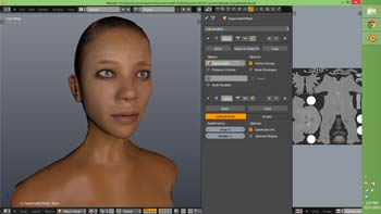 A 3D model with UV maps (texture = color) in Blender 3D software.
