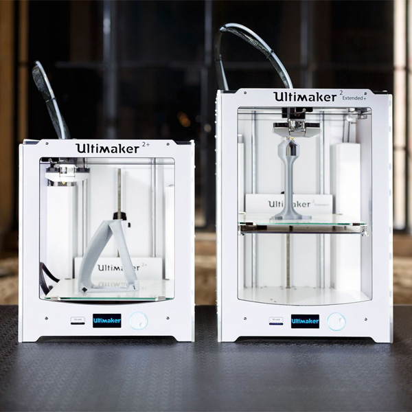 3D printer Ultimaker Ultimaker 2 extended plus Ultimaker 2, side by, side