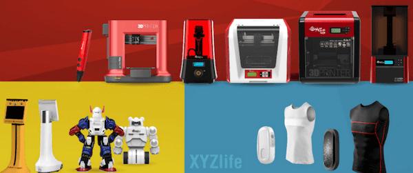 XYZPrinting 3D printers at CES 2016
