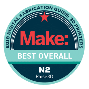 Makezine awards 2018 Best Overall Raise3D N2