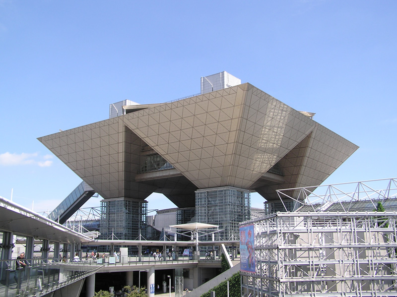 The main gate of the Tokyo Big Sight center