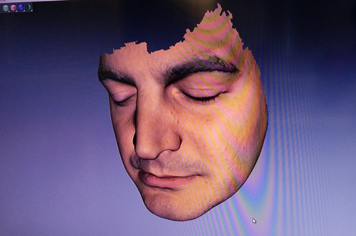 Artec Space Spider face 3D scan result