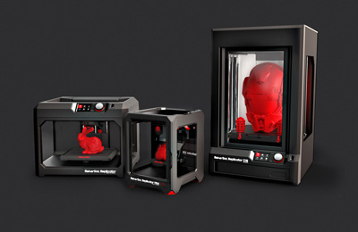 The MakerBot 3D printers