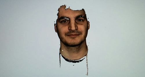Color face 3D scan