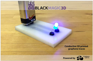 Blackmagic3D conductive filament for 3D printers.
