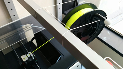 A specific setup for the filament spool