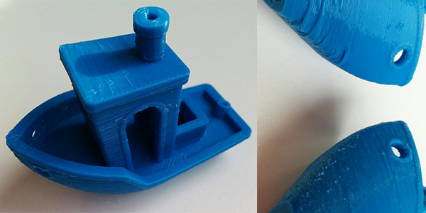 3DBenchy printed with Octofiber Blue PLA