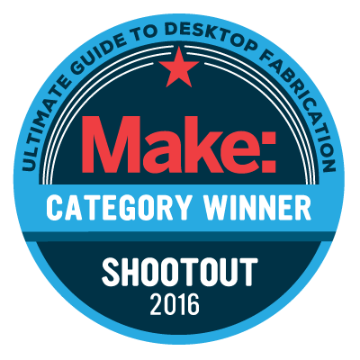 Award 3D printer Make Category Winner Shootout 2016