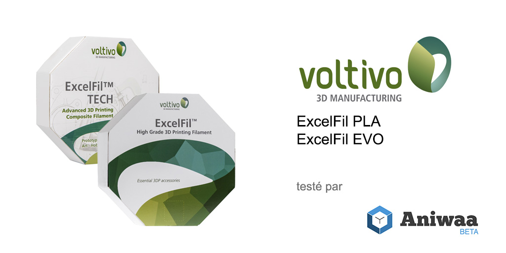 Voltivo ExcelFil EVO et Voltivo ExcelFil PLA review